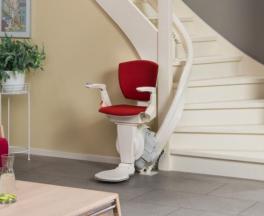 מעלון משופע כסא עם עיקול - סדן